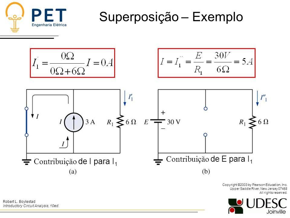 Contribuição de I para I 1 Contribuição de E para I 1 Superposição – Exemplo Robert L.