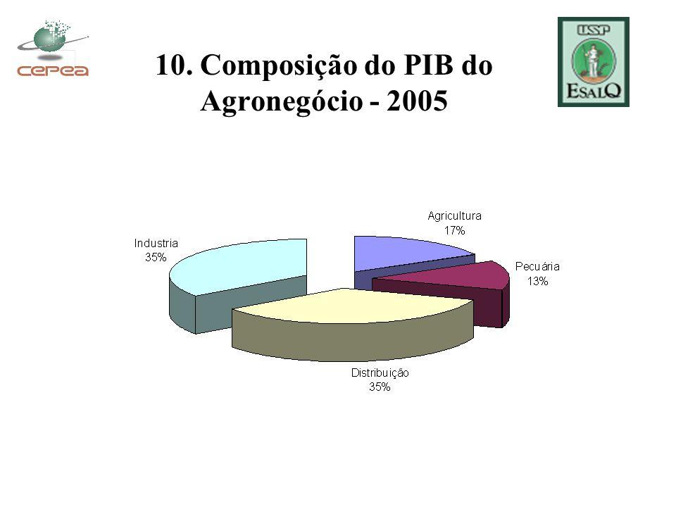 10. Composição do PIB do Agronegócio - 2005