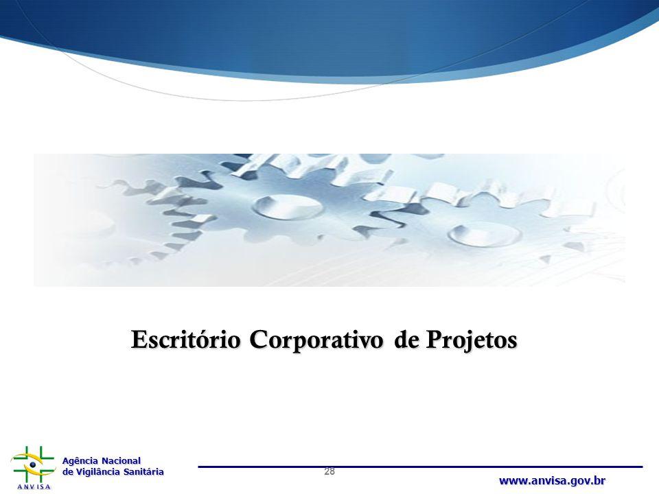 Agência Nacional de Vigilância Sanitária www.anvisa.gov.br Escritório Corporativo de Projetos 28
