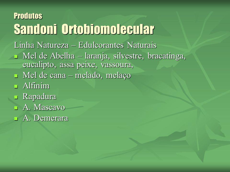 Produtos Sandoni Ortobiomolecular Linha Natureza – Edulcorantes Naturais Mel de Abelha – laranja, silvestre, bracatinga, eucalipto, assa peixe, vassou