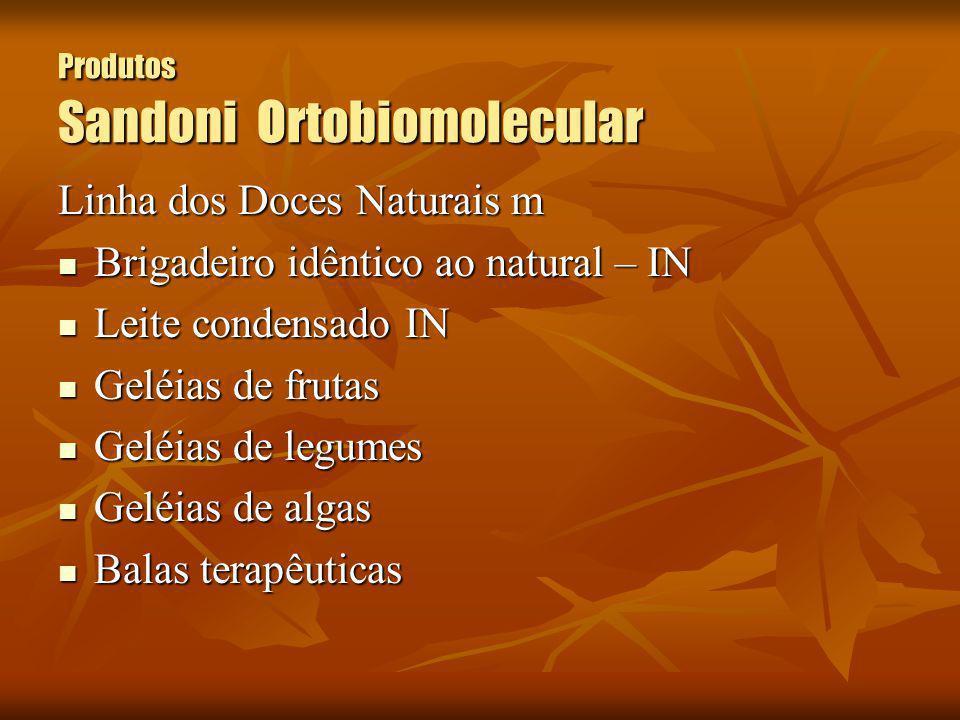 Produtos Sandoni Ortobiomolecular Linha dos Doces Naturais m Brigadeiro idêntico ao natural – IN Brigadeiro idêntico ao natural – IN Leite condensado
