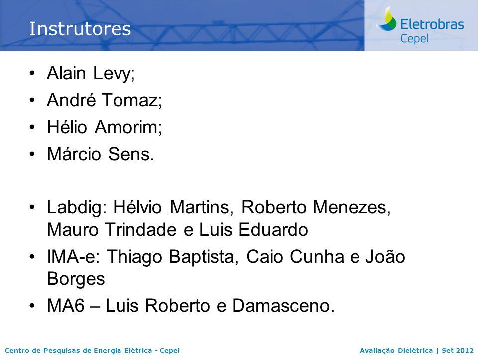 Centro de Pesquisas de Energia Elétrica - CepelAvaliação Dielétrica | Set 2012 Alain Levy; André Tomaz; Hélio Amorim; Márcio Sens.