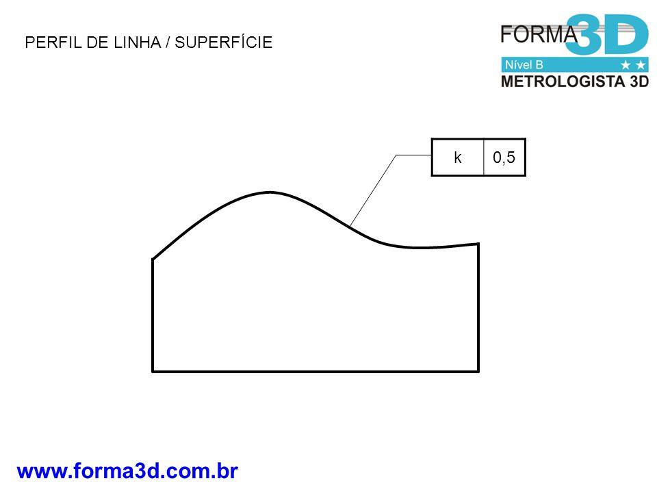 www.forma3d.com.br k0,5 PERFIL DE LINHA / SUPERFÍCIE