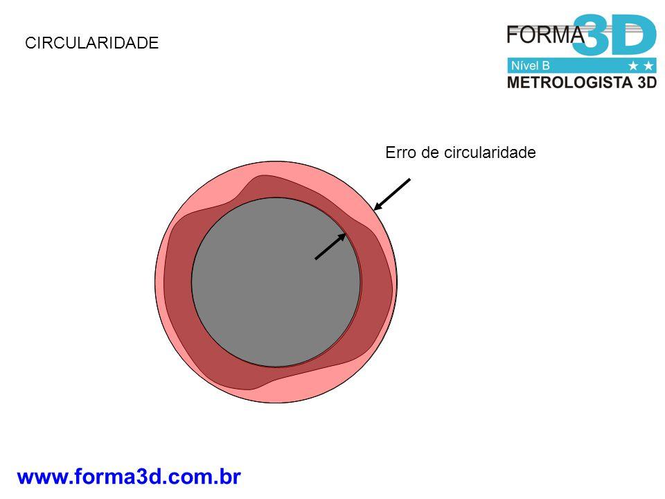 www.forma3d.com.br CIRCULARIDADE Erro de circularidade