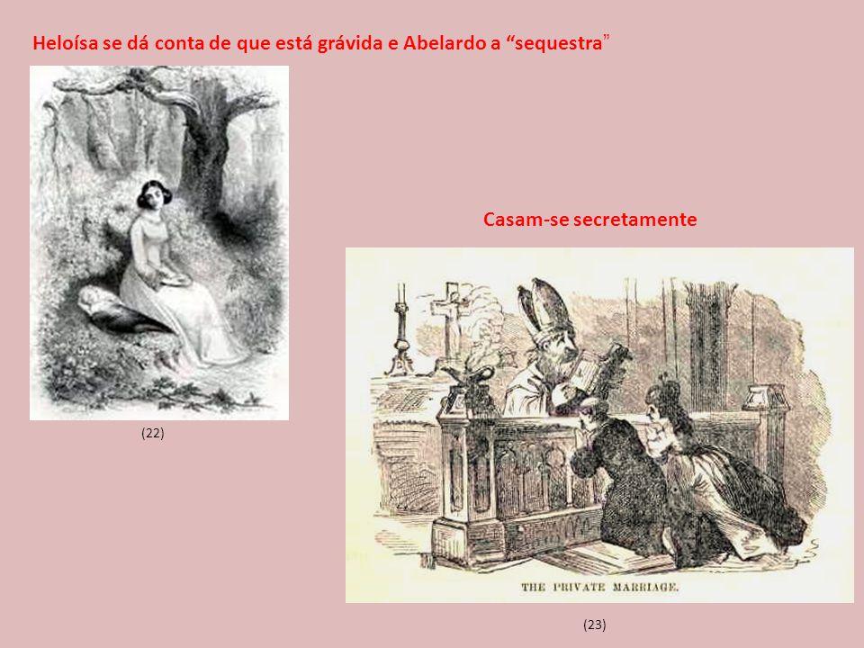 """(22) (23) Heloísa se dá conta de que está grávida e Abelardo a """"sequestra """" Casam-se secretamente"""