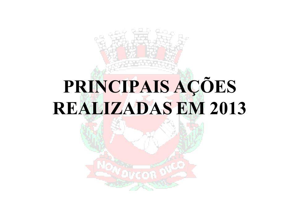 PRINCIPAIS AÇÕES REALIZADAS EM 2013