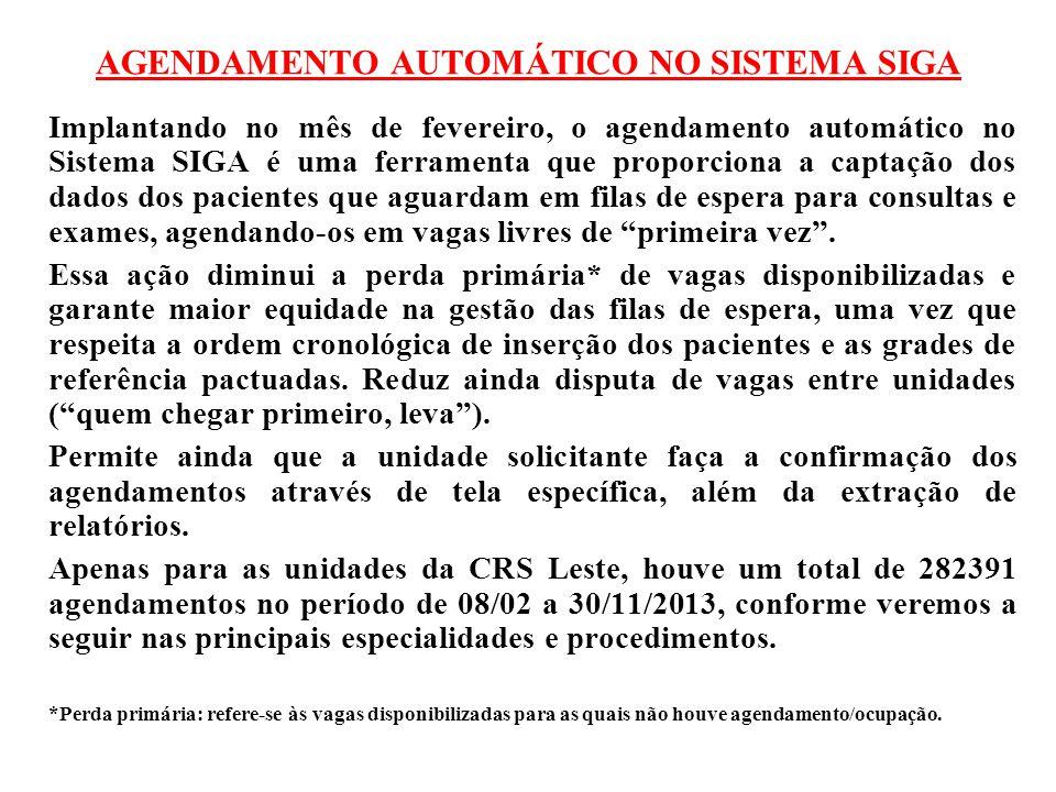 AGENDAMENTO AUTOMÁTICO NO SISTEMA SIGA Implantando no mês de fevereiro, o agendamento automático no Sistema SIGA é uma ferramenta que proporciona a ca