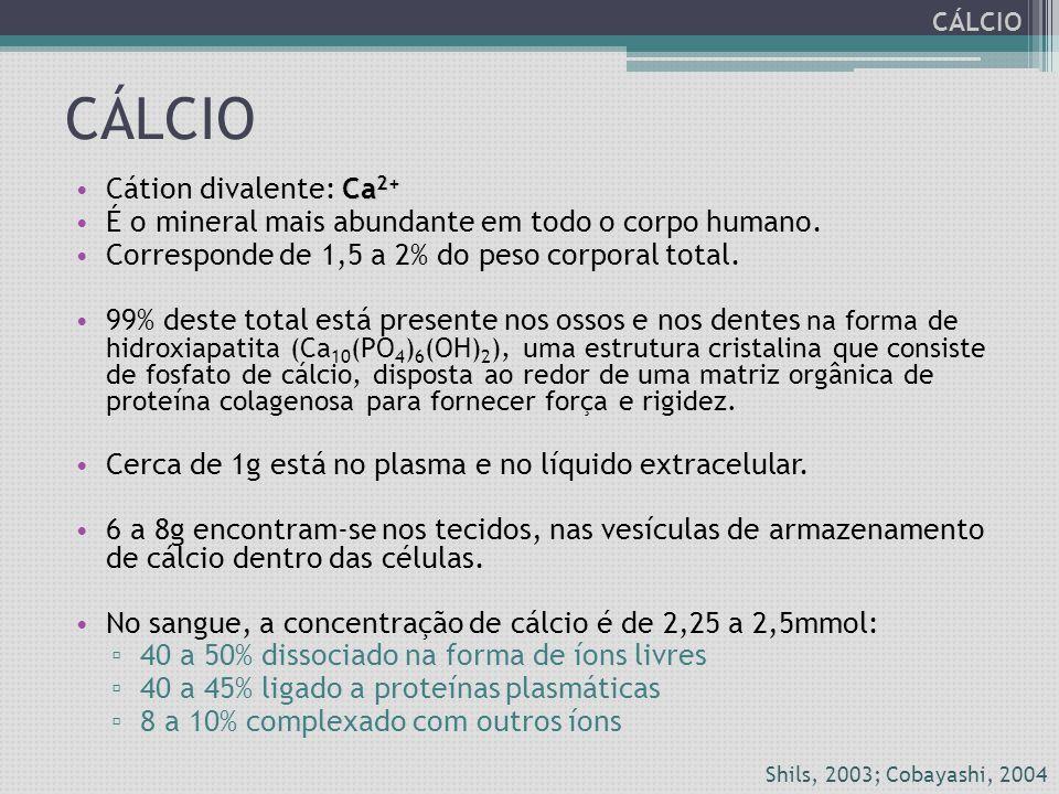 Diagnóstico de deficiência Por isso, qualquer alteração do nível das proteínas séricas, em especial a albumina, leva a uma alteração do conteúdo total de cálcio no soro, sem que isto implique em alteração da fração ionizada.