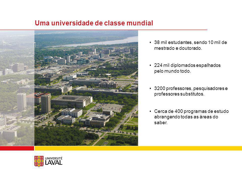Uma universidade de classe mundial (cont.) Os estudantes podem escolher dentre os três perfis de estudos seguintes: internacional, cooperativo ou empreendedor.