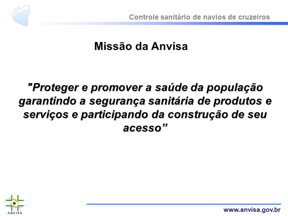 www.anvisa.gov.br Missão da Anvisa