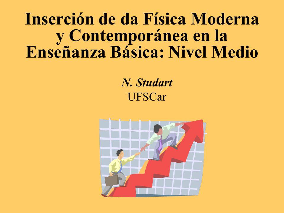 Inserción de da Física Moderna y Contemporánea en la Enseñanza Básica: Nivel Medio N. Studart UFSCar