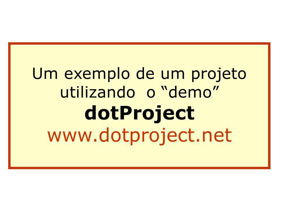 Servidor web APACHE, servidor de aplicações PHP e banco de dados MySQL. Instalação do dotProject Baixar o dotProject do site: www.dotproject.net Verif