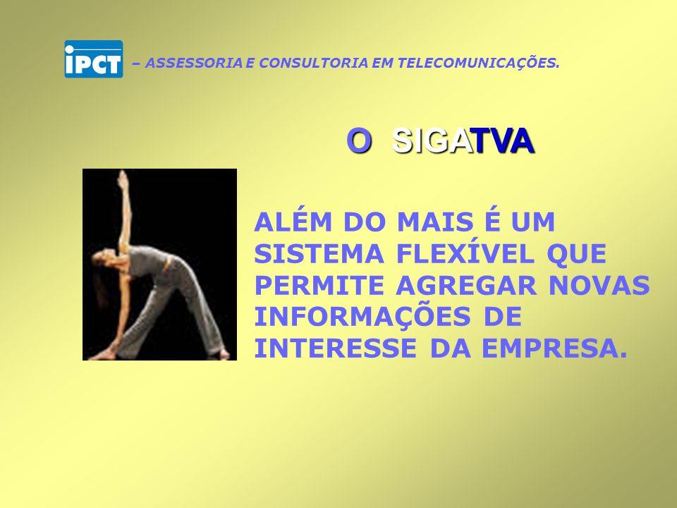 Garante o sigilo das informações de cada empresa, permitindo efetivo controle de todos os acessos realizados O SIGATVA