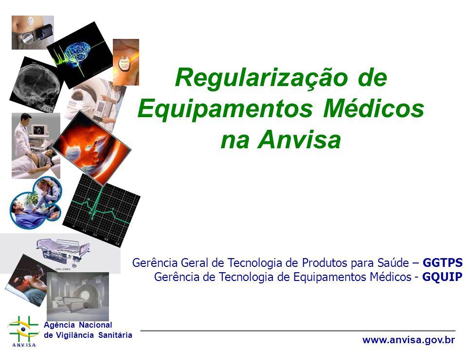 Agência Nacional de Vigilância Sanitária www.anvisa.gov.br Regularização de Equipamentos Médicos na Anvisa Gerência Geral de Tecnologia de Produtos pa