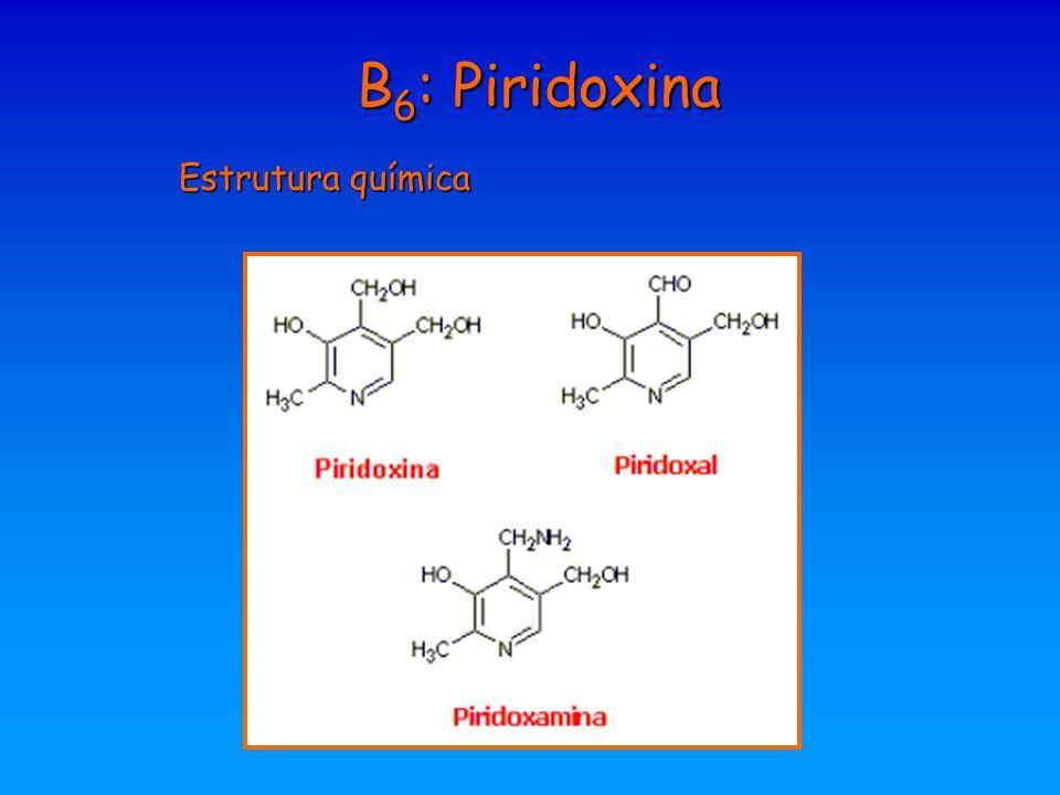 B 6 : Piridoxina Estrutura química