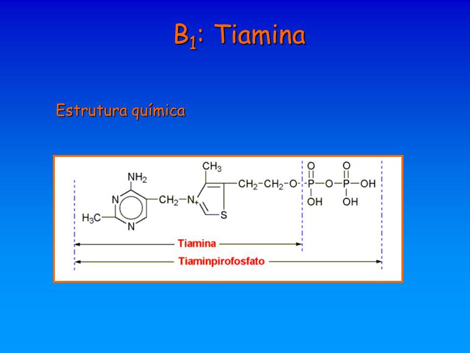 B 1 : Tiamina Estrutura química