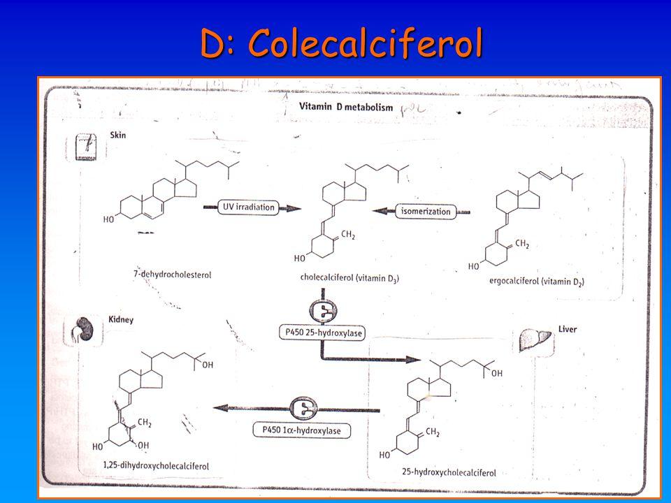 D: Colecalciferol