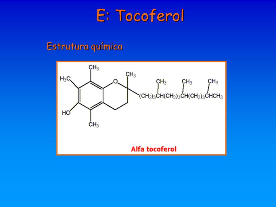 E: Tocoferol Estrutura química