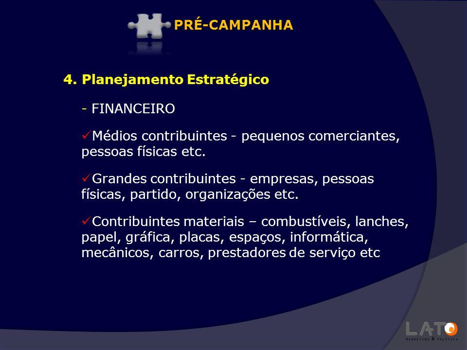 - FINANCEIRO Médios contribuintes - pequenos comerciantes, pessoas físicas etc. Grandes contribuintes - empresas, pessoas físicas, partido, organizaçõ