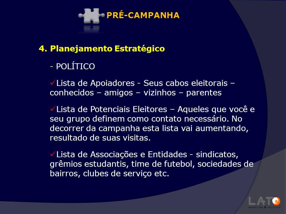 - POLÍTICO Lista de Apoiadores - Seus cabos eleitorais – conhecidos – amigos – vizinhos – parentes Lista de Potenciais Eleitores – Aqueles que você e
