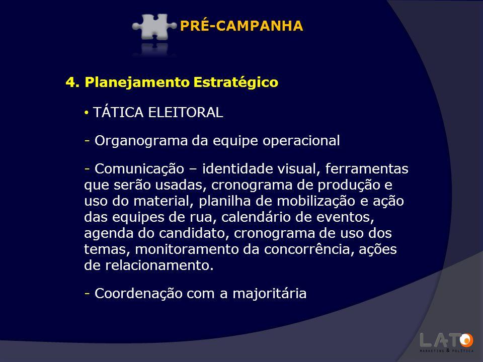TÁTICA ELEITORAL - Organograma da equipe operacional - Comunicação – identidade visual, ferramentas que serão usadas, cronograma de produção e uso do
