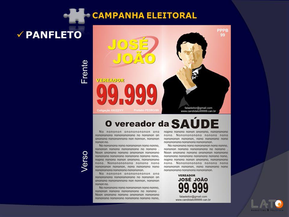PANFLETO CAMPANHA ELEITORAL