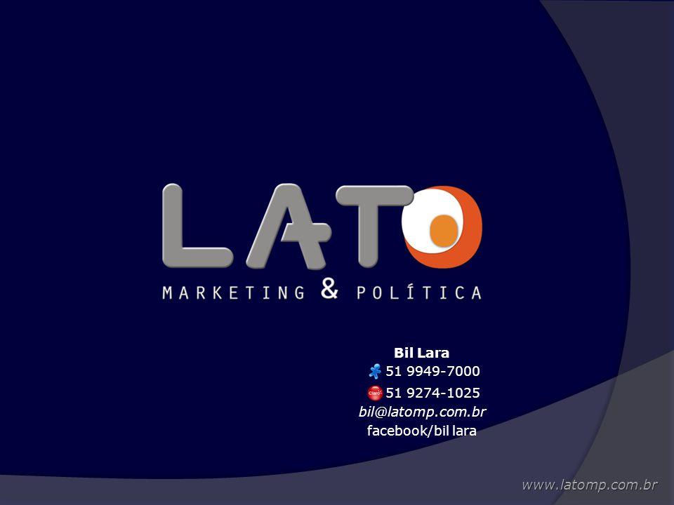 Bil Lara 51 9949-7000 51 9274-1025 bil@latomp.com.br facebook/bil lara www.latomp.com.br