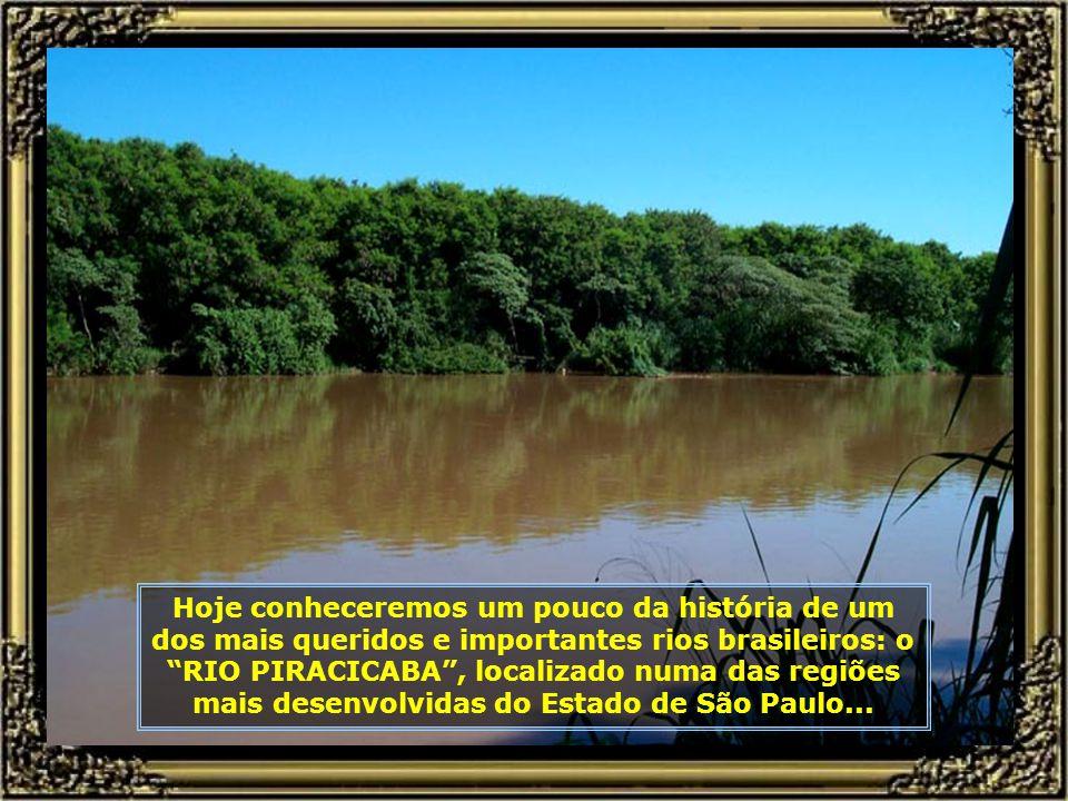 Hoje conheceremos um pouco da história de um dos mais queridos e importantes rios brasileiros: o RIO PIRACICABA , localizado numa das regiões mais desenvolvidas do Estado de São Paulo...