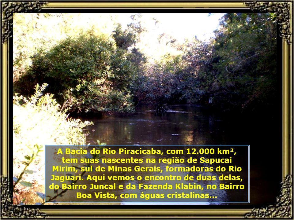 A Bacia do Rio Piracicaba, com 12.000 km², tem suas nascentes na região de Sapucaí Mirim, sul de Minas Gerais, formadoras do Rio Jaguari.