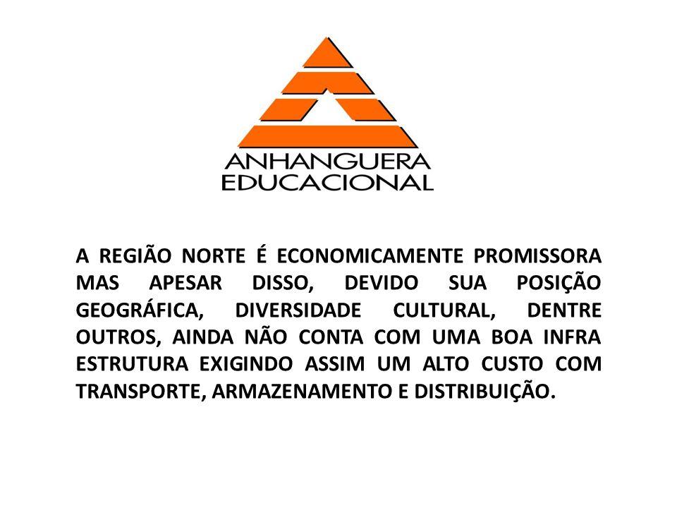 A REGIÃO NORTE É ECONOMICAMENTE PROMISSORA MAS APESAR DISSO, DEVIDO SUA POSIÇÃO GEOGRÁFICA, DIVERSIDADE CULTURAL, DENTRE OUTROS, AINDA NÃO CONTA COM U