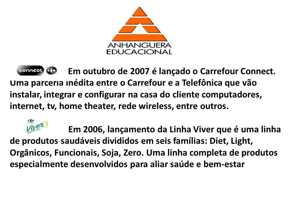 Em outubro de 2007 é lançado o Carrefour Connect. Uma parceria inédita entre o Carrefour e a Telefônica que vão instalar, integrar e configurar na cas