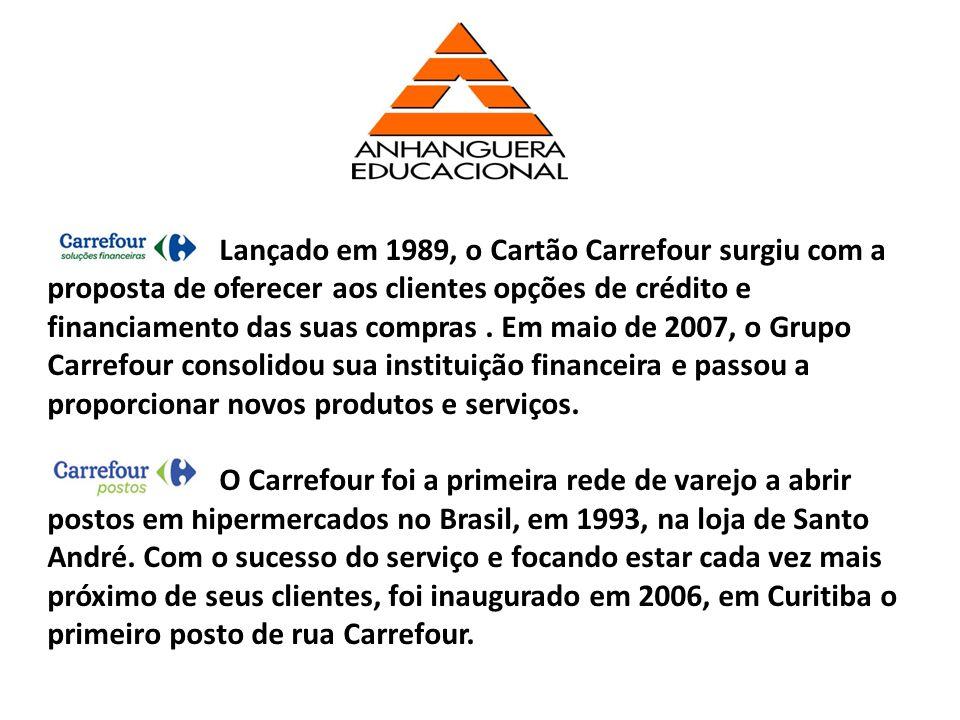 Lançado em 1989, o Cartão Carrefour surgiu com a proposta de oferecer aos clientes opções de crédito e financiamento das suas compras. Em maio de 2007