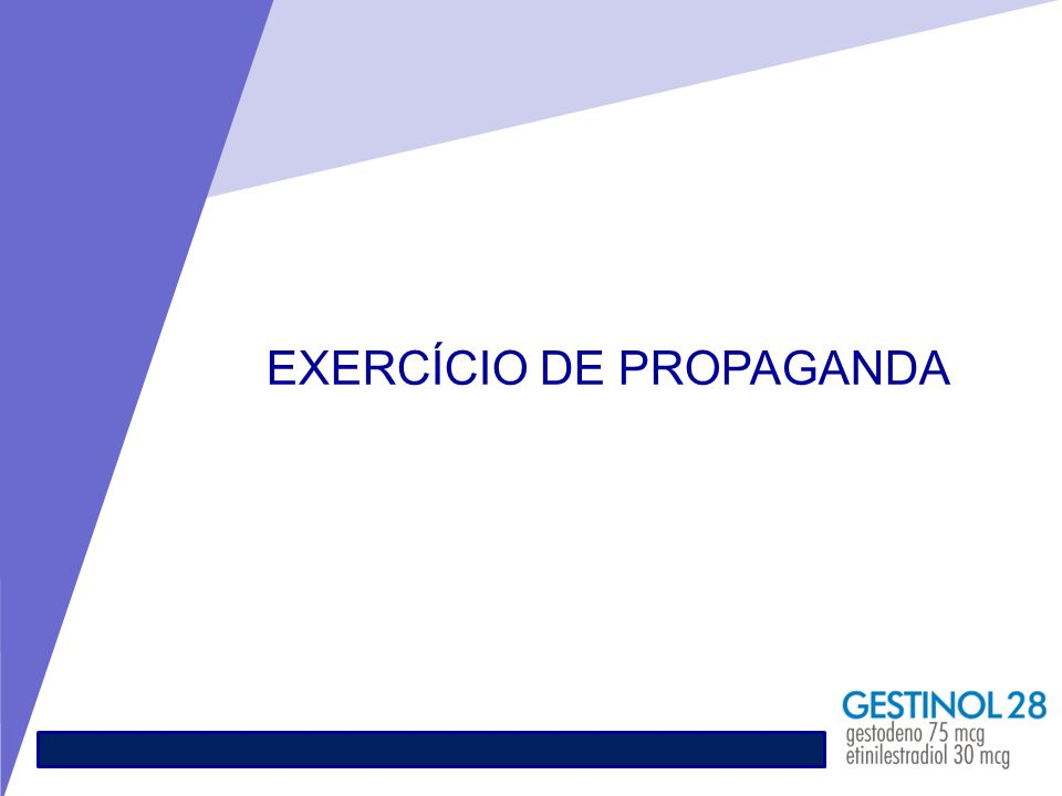 EXERCÍCIO DE PROPAGANDA