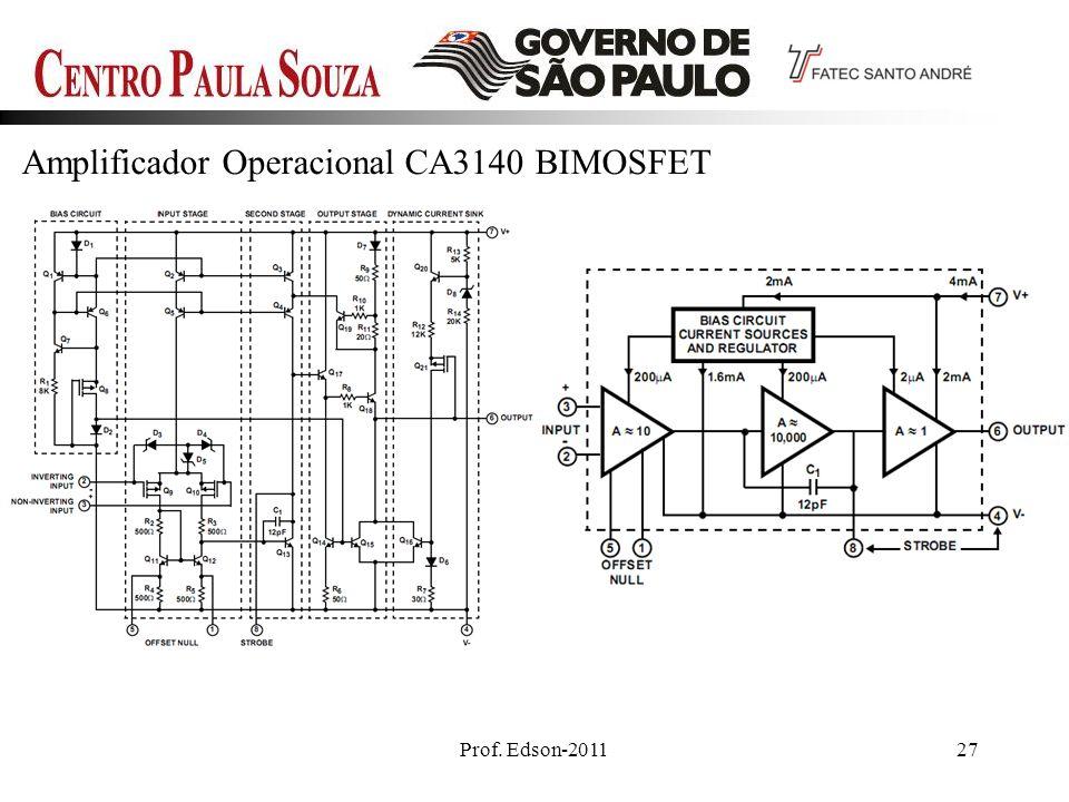 Prof. Edson-201127 Amplificador Operacional CA3140 BIMOSFET