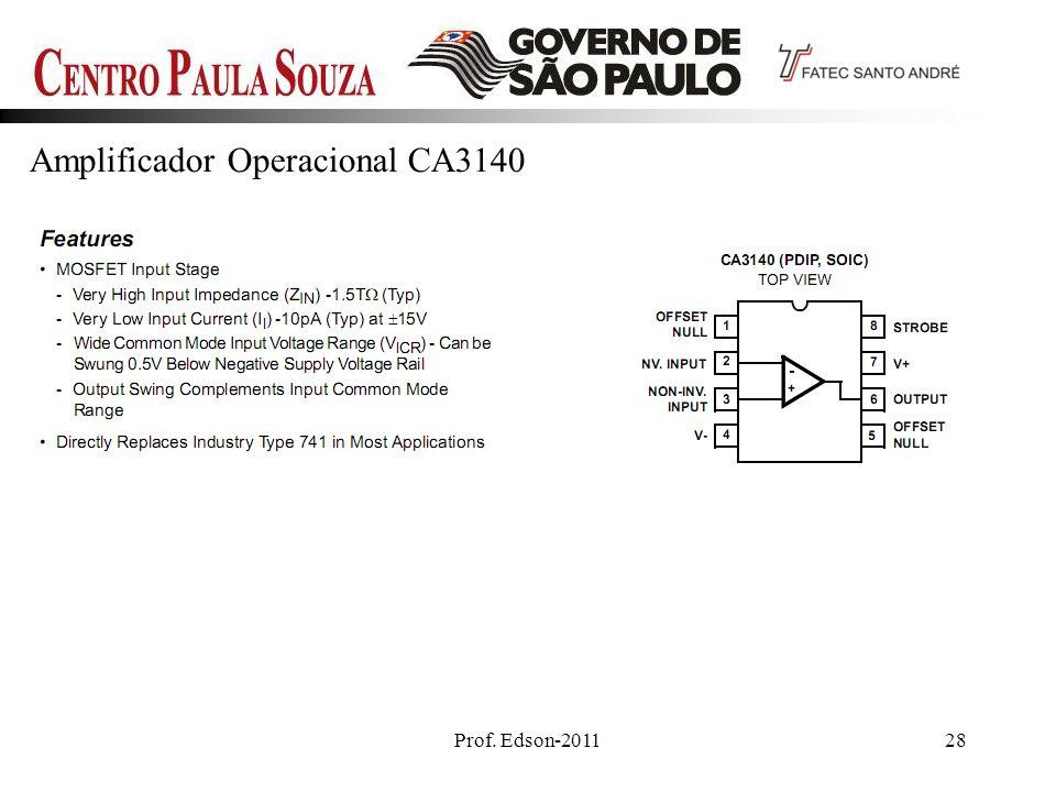 Prof. Edson-201128 Amplificador Operacional CA3140