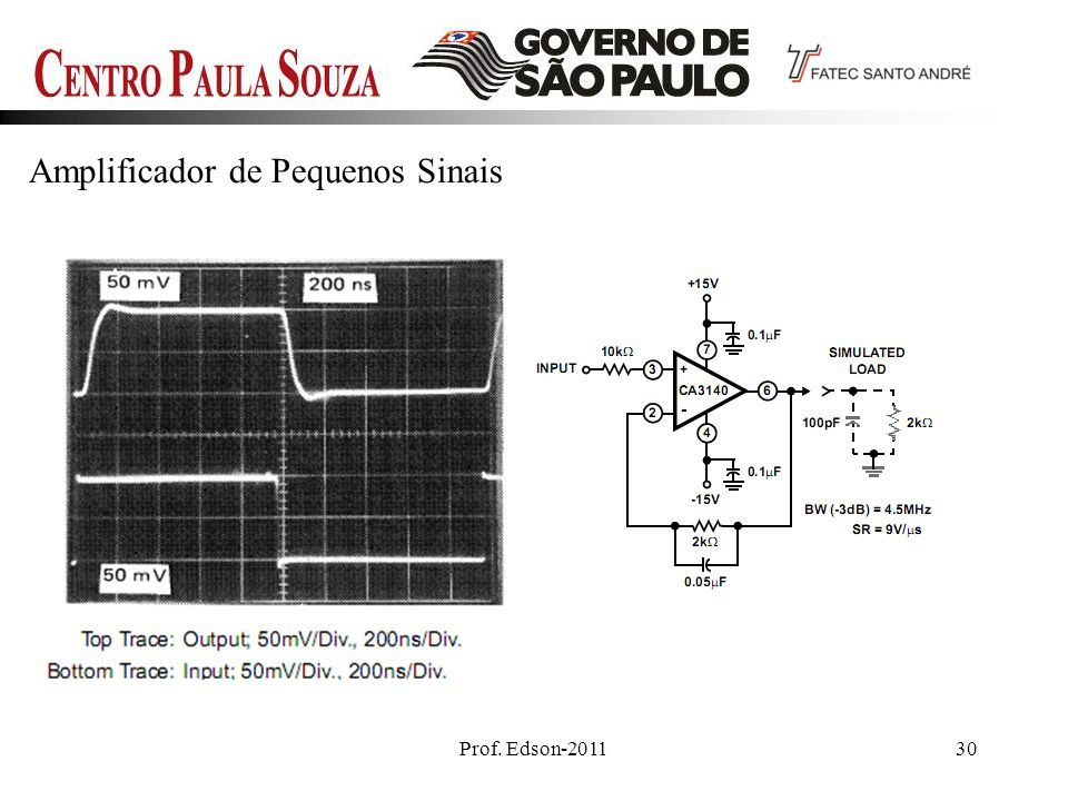 Prof. Edson-201130 Amplificador de Pequenos Sinais