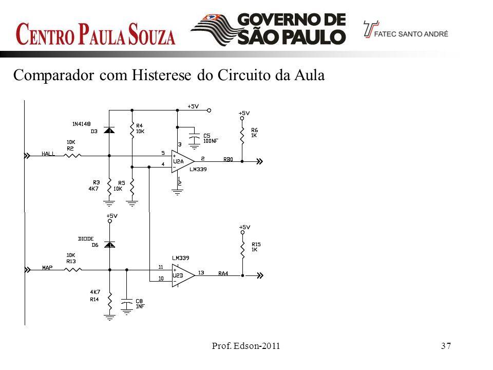 Prof. Edson-201137 Comparador com Histerese do Circuito da Aula