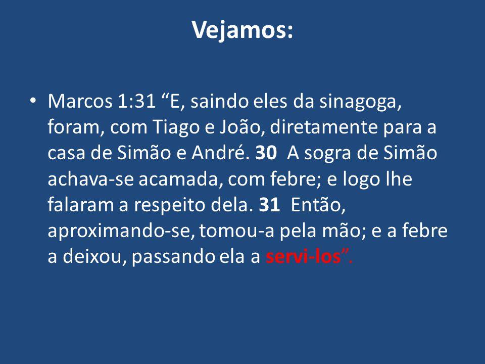 """Vejamos: Marcos 1:31 """"E, saindo eles da sinagoga, foram, com Tiago e João, diretamente para a casa de Simão e André. 30 A sogra de Simão achava-se aca"""