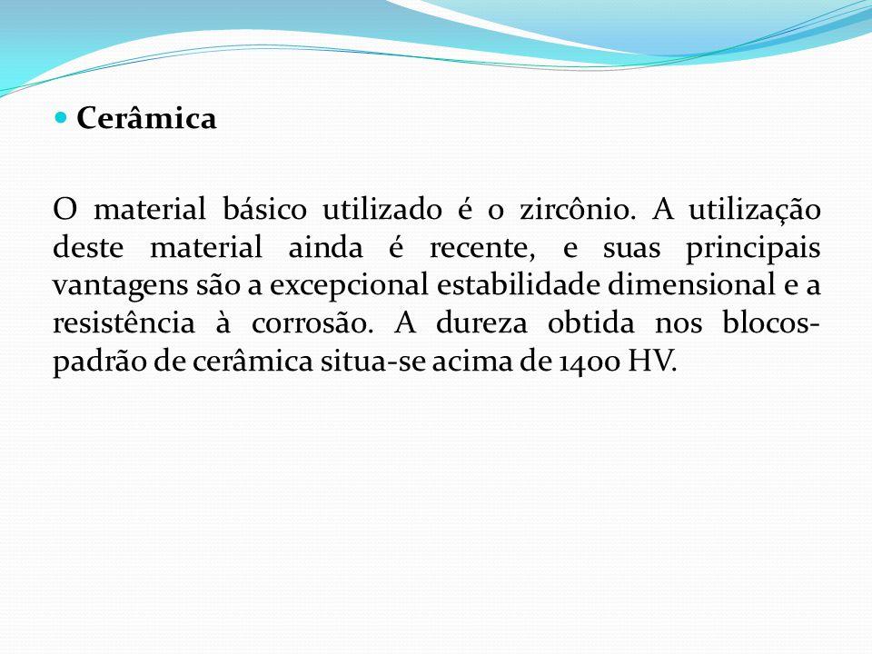 Cerâmica O material básico utilizado é o zircônio.