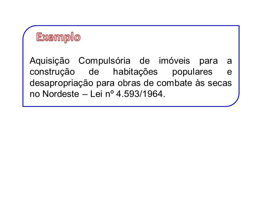 Aquisição Compulsória de imóveis para a construção de habitações populares e desapropriação para obras de combate às secas no Nordeste – Lei nº 4.593/