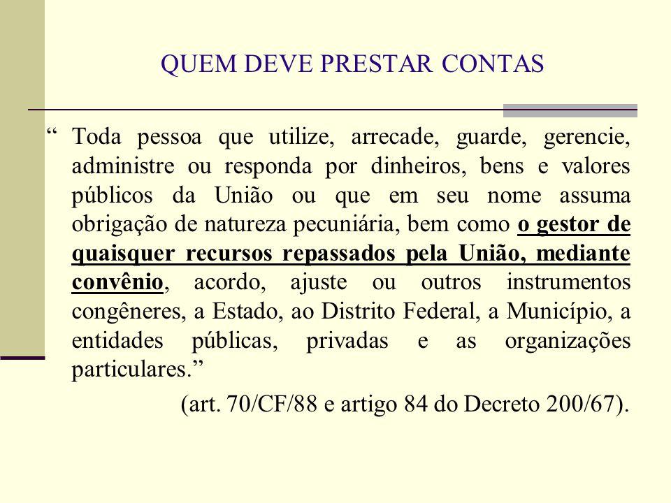 NO CASO DE MUDANÇA NA GESTÃO DO ENTE Art.56.