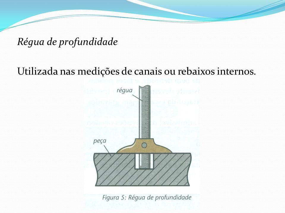 Régua de profundidade Utilizada nas medições de canais ou rebaixos internos.