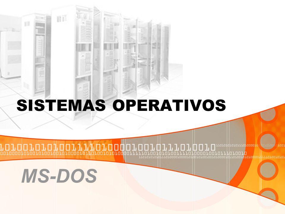 O DOS possui nativamente uma interface de linha de comandos através do seu interpretador de comandos, command.com.