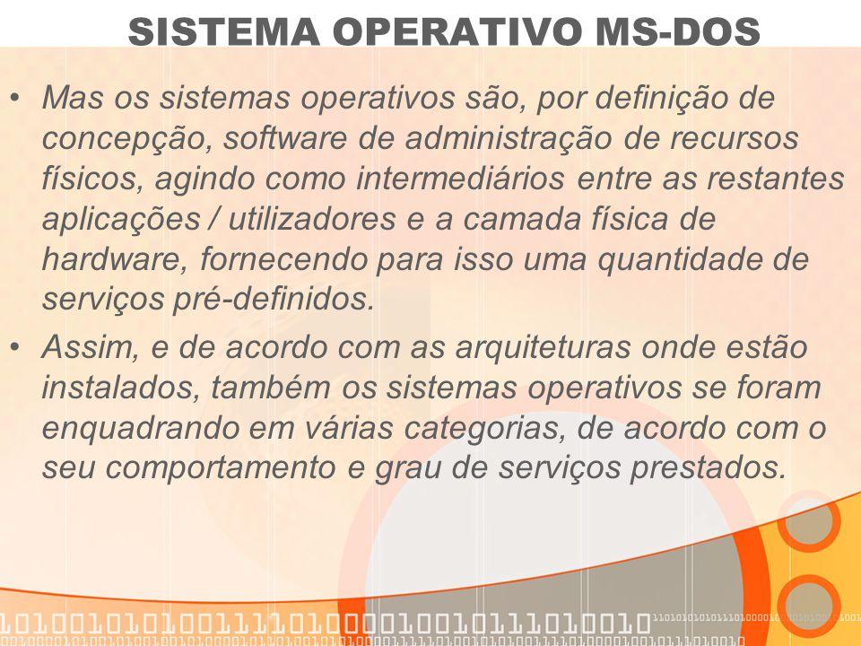 Mas os sistemas operativos são, por definição de concepção, software de administração de recursos físicos, agindo como intermediários entre as restant