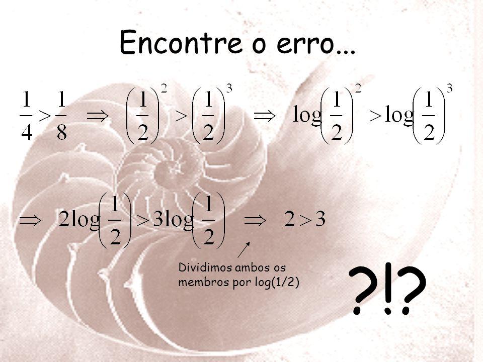 8. (CESGRANRIO-77)As indicações R 1 e R 2,na escala Richter, de dois terremotos estão relacionadas pela fórmula: R 1 - R 2 = Log (M1/M2) onde M1 e M2