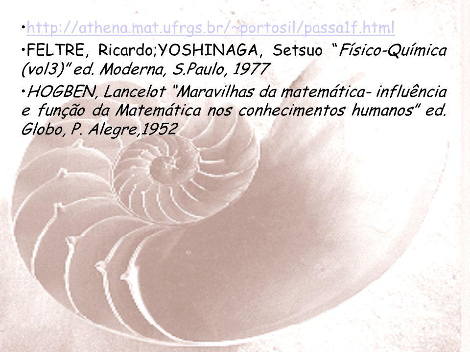 http://athena.mat.ufrgs.br/~portosil/passa1f.html FELTRE, Ricardo;YOSHINAGA, Setsuo Físico-Química (vol3) ed.