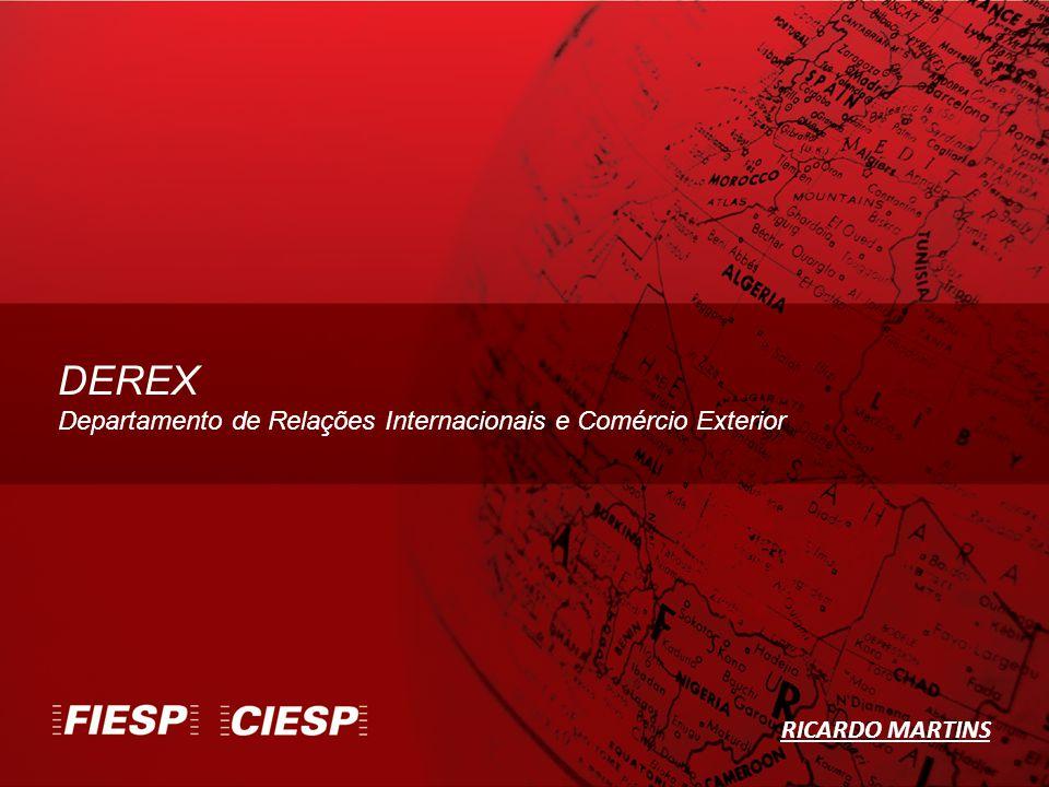 DEREX Departamento de Relações Internacionais e Comércio Exterior RICARDO MARTINS
