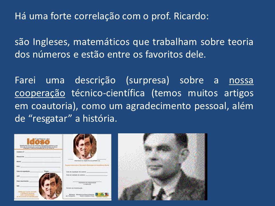 Caros Colegas Eis aqui uma relação alumni cuja formação está fortemente ligada ao prof. Ricardo Campello. No ano de 2012, ele estará comemorando o seu