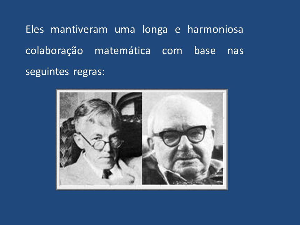 Os Axiomas de Hardy-Littlewood para Colaboração Científica Para ilustrar o forte sentimento de independência, parte das tradições características do e
