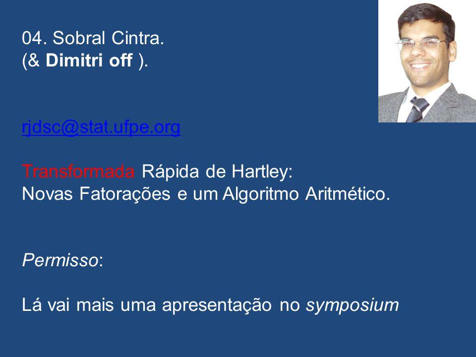 A GRANDE DESCENDÊNCIA 03. Raimundo Correa de Oliveira. rcorrea.oliveira@gmail.com rcorrea.oliveira@gmail.com Atrasou! Criptoanálise Diferencial. 2003.